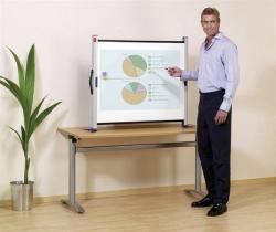 Projekční plátno, přenosné, stolní, 4:3, 104x75cm, NOBO
