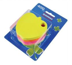 Samolepicí bloček ve tvaru jablka, 5x80 lístků, DONAU, mix barev ,balení 400 ks