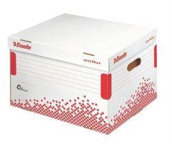 Rychle-složitelný archivační kontejner s víkem Speedbox, bílá, ESSELTE