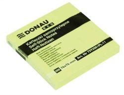 Samolepicí bloček, 76x76 mm, 100 lístků, DONAU ECO, žlutá ,balení 100 ks