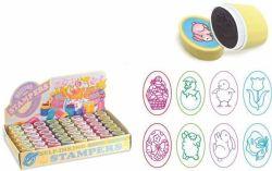 Samobarvicí razítka, tvar vajíčka