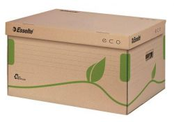 Archivační krabice Eco, přírodní hnědá, s víkem, ESSELTE