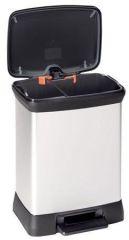 Odpadkový koš, šedá/černá, pedálový, plastový, duo, CURVER