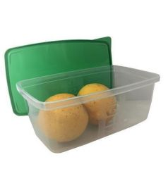 Dóza na potraviny s víkem, plast, set 3 ks, 0,8l ,balení 3 ks