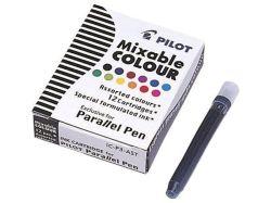 Inkoustové bombičky Parallel Pen, 12 různých barev, PILOT ,balení 12 ks