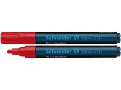 Permanentní lakový popisovač Maxx 270, červená, 1-3mm, SCHNEIDER