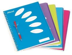 Blok na psaní Joy, purpurová, linkovaný, kroužková vazba, A4, 125 listů, 5 částí, REXEL