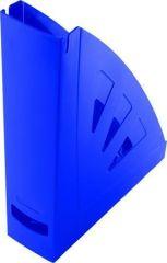 Stojan na časopisy, modrá, plast, 75 mm, VICTORIA
