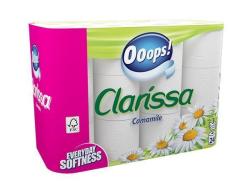 Toaletní papír, 3vrstvý, 24 rolí, Clarissa ,balení 24 ks