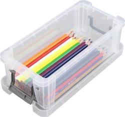 Box, plastový, s víkem, 1,3 l, průhledný, ALLSTORE
