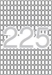 Etikety, zaoblené rohy,  8x12 mm, 3375 ks/bal., A5, APLI ,balení 15 ks