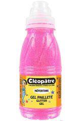 Třpytivý gel 250 ml NEON Růžová, CLEOPATRE