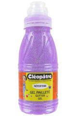 Třpytivý gel 250 ml NEON Fialová, CLEOPATRE