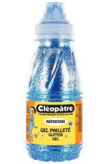 Třpytivý gel 250 ml Modrá, CLEOPATRE