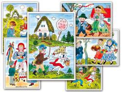 Velikonoční pohlednice Alena Ladová - mix motivů