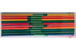 Krepový papír - sada 10 ks / duhový