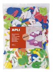 Samolepicí abeceda APLI Jumbo / mix barev / 500 ks