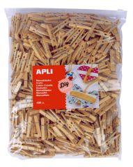 Dřevěné kolíčky APLI Jumbo přirodní / 400 ks