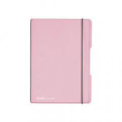 Sešit my.book flex - A5 / indonéská růžová / 40 listů / čtvereček