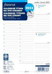 Náhradní vložky do diářů Filofax - kalendář A5 2019 týden / 2 strany