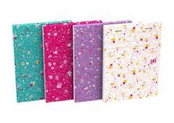 Blok Oxford Floral - A6 / linka / 80 listů / mix motivů