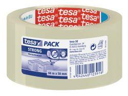 Balicí pásky Tesa Strong NEHLUČNÉ - 50 mm x 66 m / transparentní