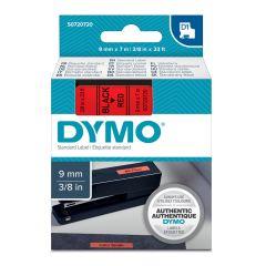Pásky D1 standardní - 9 mm x 7 m / černý tisk / červená páska