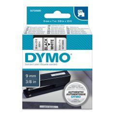 Pásky D1 standardní - 9 mm x 7 m / černý tisk / bílá páska