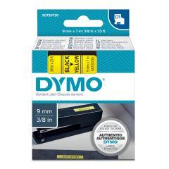 Pásky D1 standardní - 9 mm x 7 m / černý tisk / žlutá páska