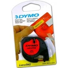 Pásky Letratag - 12 mm x 4 m / plastová / červená