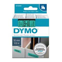 Pásky D1 standardní - 12 mm x 7 m / černý tisk / zelená páska