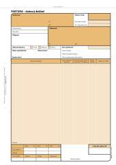Faktura Optys - A4 / 100 listů NCR / 1071
