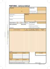 Faktura Optys - A5 / 100 listů NCR / 1072
