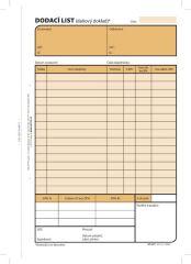 Dodací list Optys - A5 / 100 listů NCR / 1077