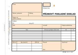 Příjmový pokladní doklad Optys - A6 / číslovaný 2 x 50 listů NCR / 1081