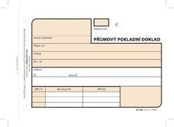 Příjmový pokladní doklad Optys - A6 / číslovaný 3 x 25 listů NCR / 1082