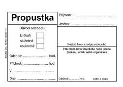 Propustka - A7 / 50 listů / ET077