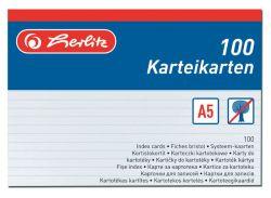 Herlitz 01150507 náhradní karty do kartotéky 100 ks A5