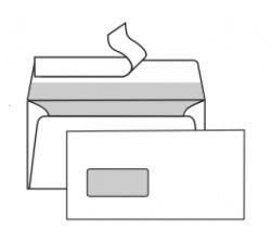 Obálky DL samolepicí s krycí páskou - okénko vlevo / 1000 ks