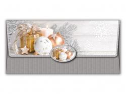 Vánoční obálky na peníze - 180 x 85 mm / stříbrná