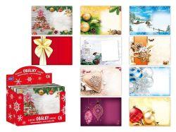Vánoční obálky - C6 / 100 ks, mix motivů