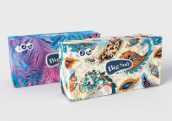 Kapesníčky papírové kosmetické Big Soft - dvouvrstvé / 200 ks