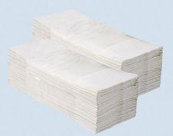 Ručníky skládané Merida - ručníky bílé / jednovrstvé / 200 ks