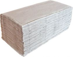 Papírové ručníky skládané Z-Z šedé 1-vrstvé 250 ks