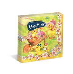 Velikonoční ubrousky Big Soft - 33 x 33 cm / dvouvrstvé - 20 ks