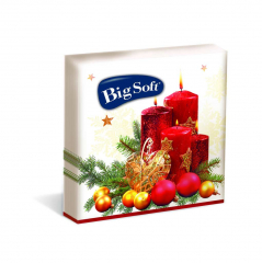 Big Soft papírové ubrousky Vánoční 33 x 33 cm 20 ks