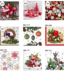 Vánoční ubrousky - 3-vrstvé / 15 ks