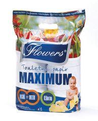 Flowers Maximum toaletní papír 2-vrstvý 6ks
