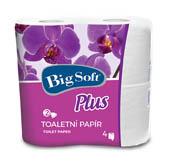 Toaletní papír Big Soft Plus - bílá