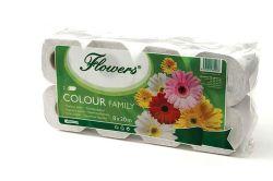 Flowers Family 2-vrstvý 8ks